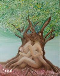 Twinsouls- Irma Schiffers  Oilpaint