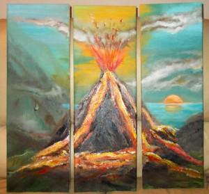 vulkaan drieluik