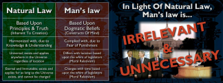 Natural law vs man's law