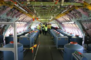 Chemtrails, binnenkant vliegtuig