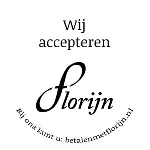 Wij accepteren Florijn