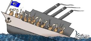 zinkend schip