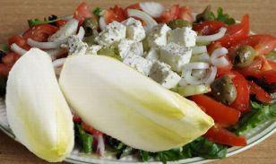 brussels lof met griekse salade