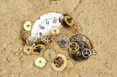 Zand in een uurwerk