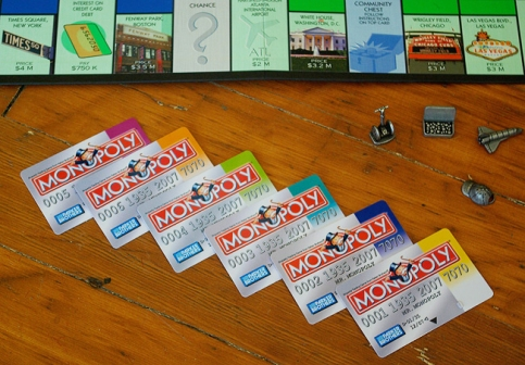 Monopoly debitcards