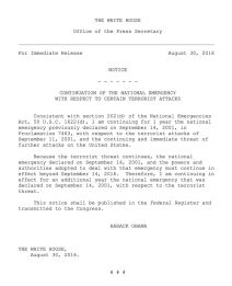 declaration obama